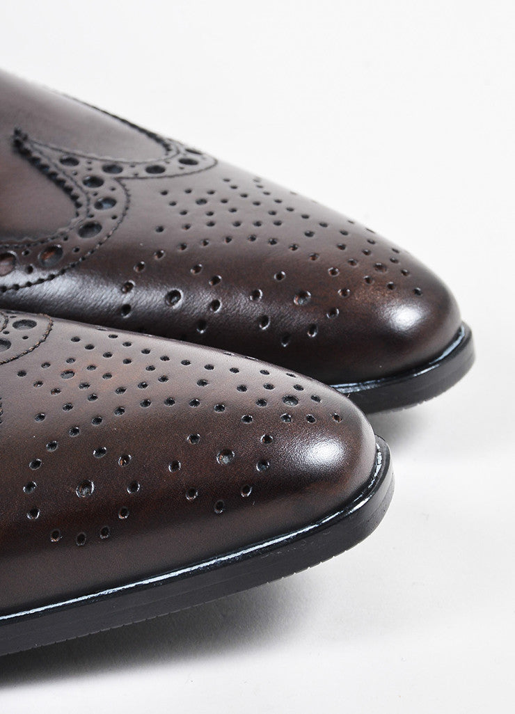 Men's Dolce & Gabbana Derby Lace Up Wingtips Brogues Detail
