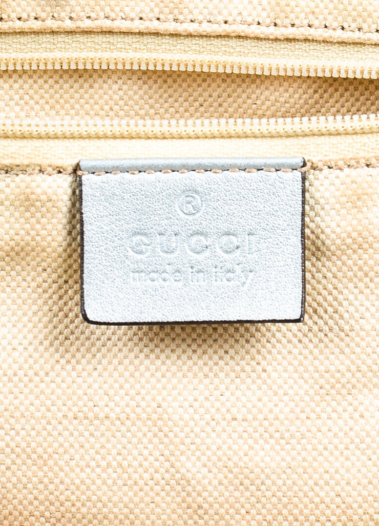 "Gucci Metallic Silver Guccissima Leather Crossbody ""Sukey Boston"" Bag Brand"