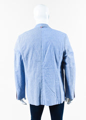 Men's Thom Browne Blue Gingham Plaid Jacket Back