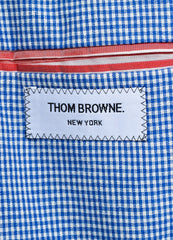 Men's Thom Browne Blue Gingham Plaid Jacket Brand