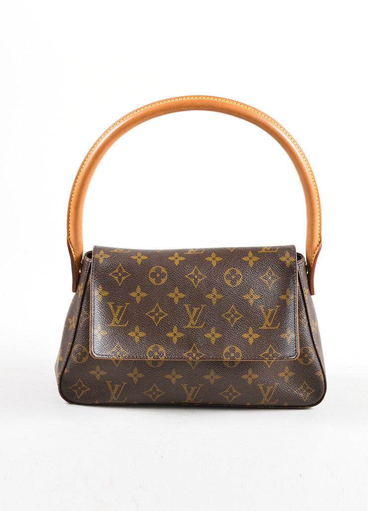 Louis Vuitton Brown Monogram Canvas Mini Looping Bag Frontview
