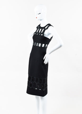 Jonathan Simkhai Black Cut Out Paneled Sleeveless Sheath Dress Side