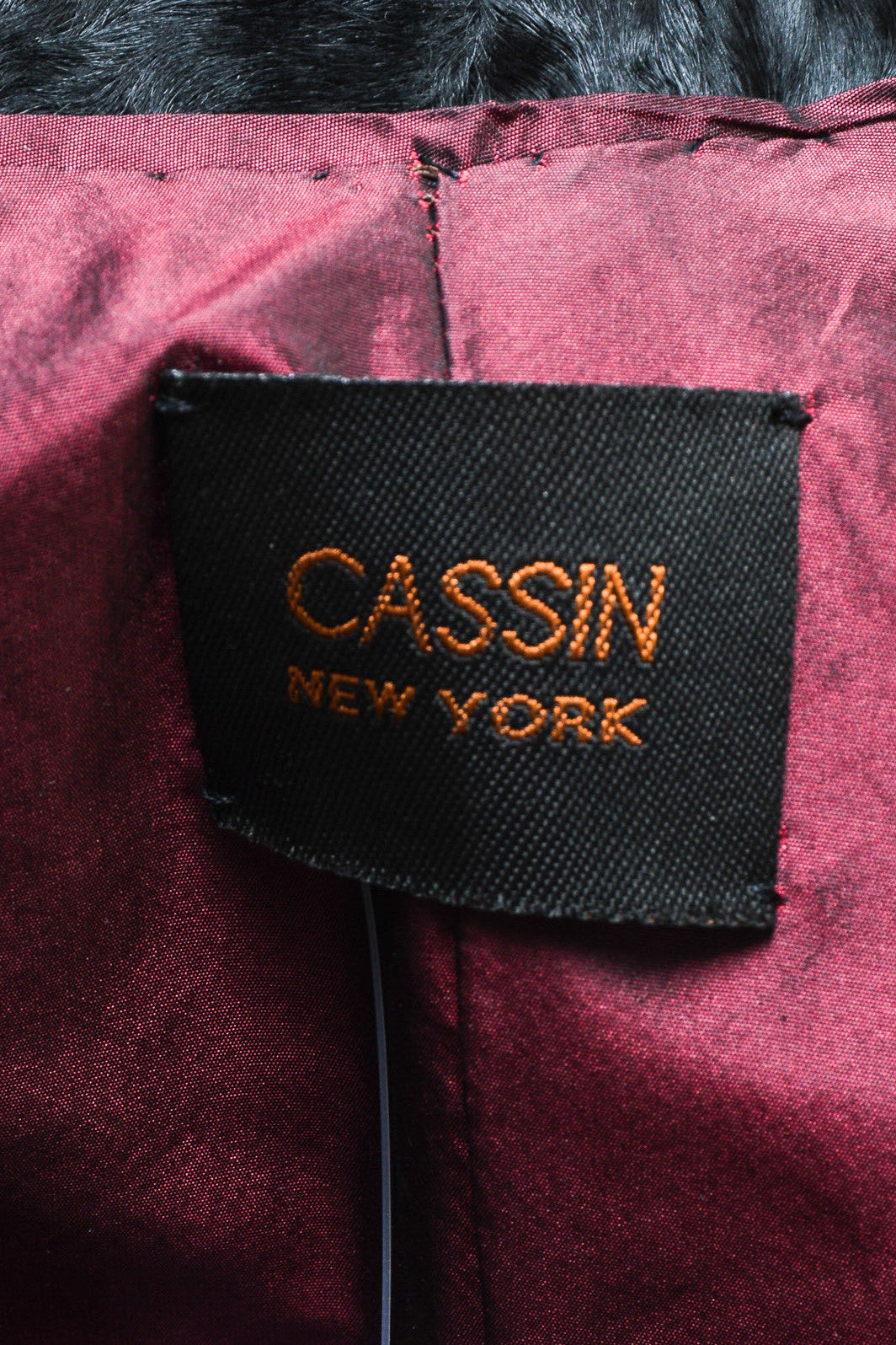Cassin Black Lamb Fur Double Breasted Coat Brand