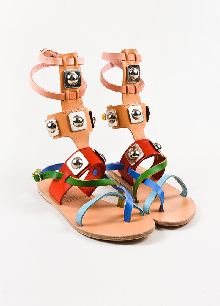 Colorful Ancient Greek Sandals x Peter Pilotto Gladiator Sandals Front
