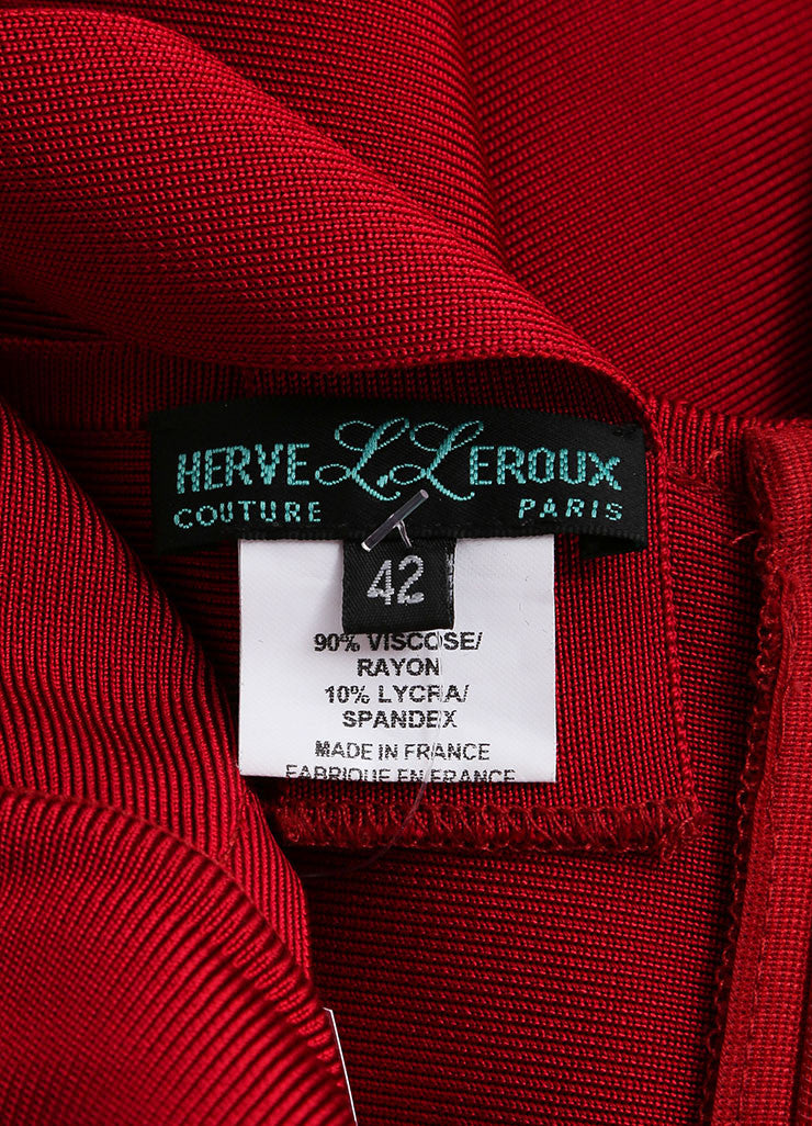 Herve Leroux New With Tags Red Sleeveless Bodycon Dress Brand