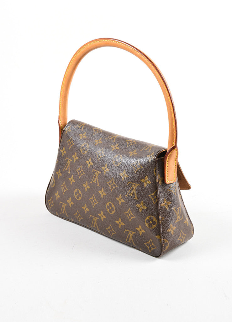 Louis Vuitton Brown Monogram Canvas Mini Looping Bag Sideview