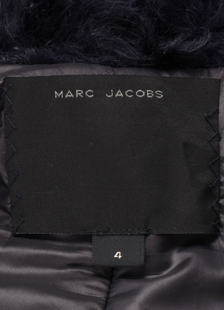 Midnight Blue Marc Jacobs Faux Fur Toggle Jacket