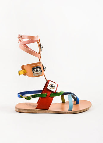 Colorful Ancient Greek Sandals x Peter Pilotto Gladiator Sandals Side