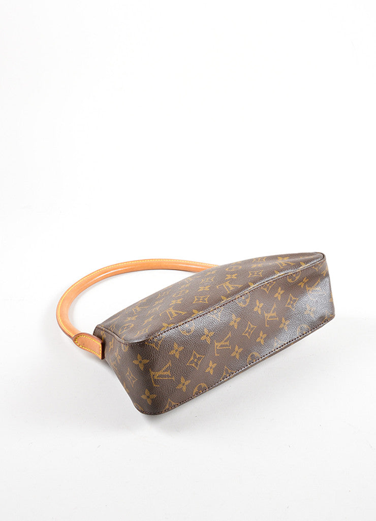 Louis Vuitton Brown Monogram Canvas Mini Looping Bag Bottom View