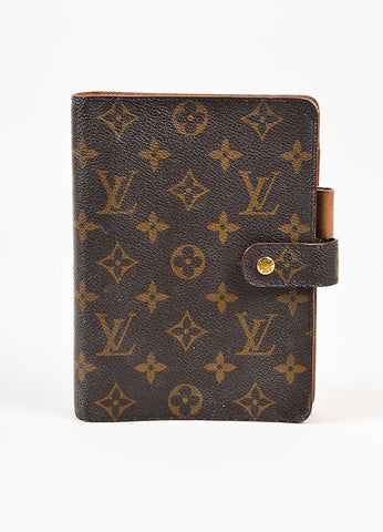 Louis Vuitton Brown Monogram Canvas Medium Agenda Cover Frontview