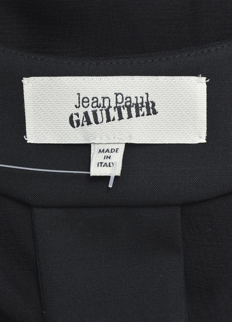 Black Jean Paul Gaultier Wool and Silk Chiffon Shirt Gown Brand