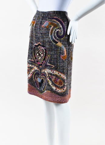 Missoni 2002 Collectable 001/150 Multicolor Mohair Knit Skirt Side