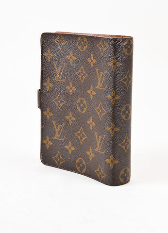 Louis Vuitton Brown Monogram Canvas Medium Agenda Cover Sideview