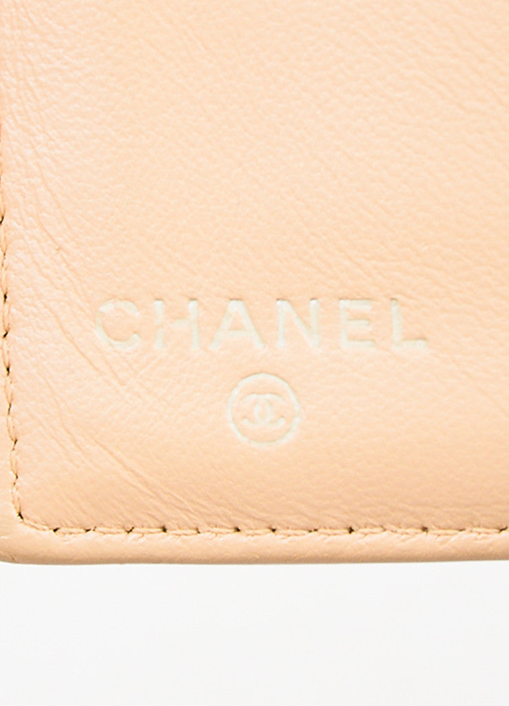 Chanel Beige Lambskin Leather Quilted Flap Wallet Brand