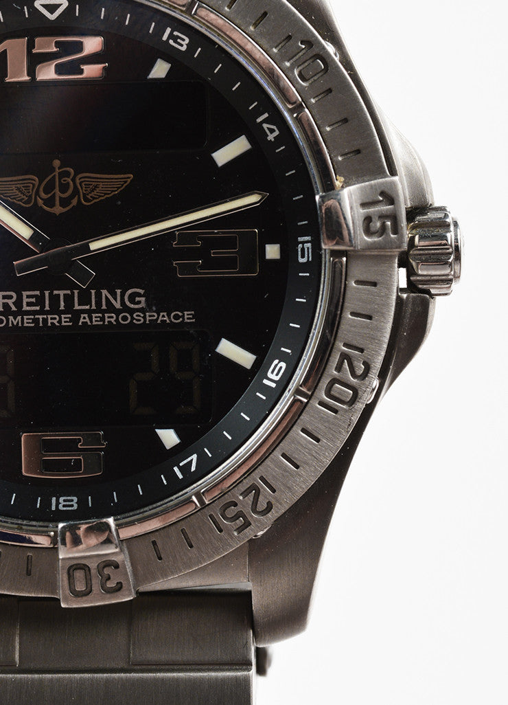 "Men's Breitling Matte Silver Titanium ""Aerospace Advantage"" Watch Detail"