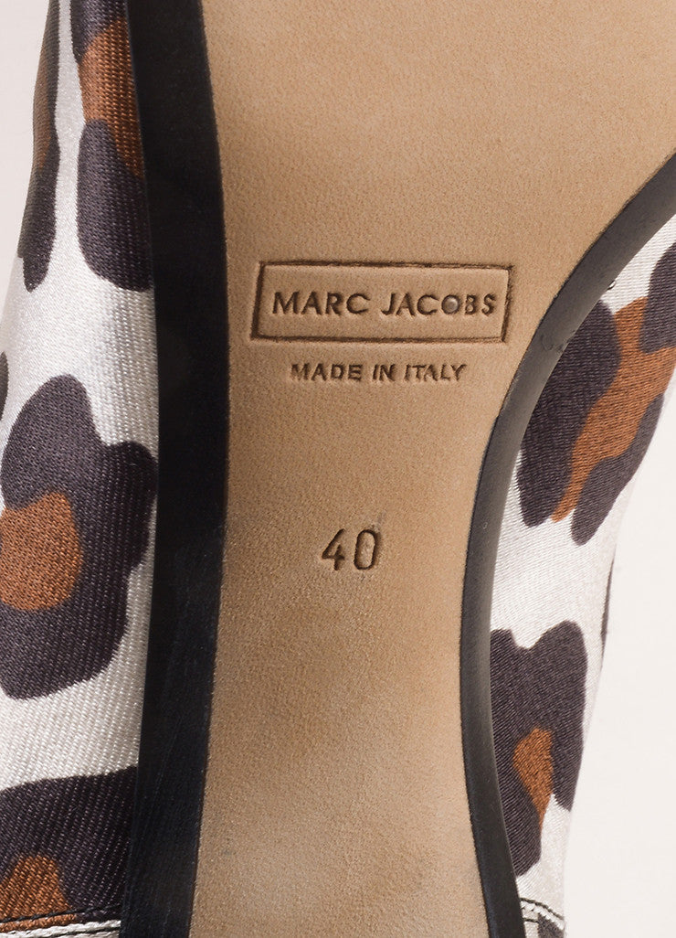 Marc Jacobs New In Box White and Brown Pointed Toe Leopard Booties Brand