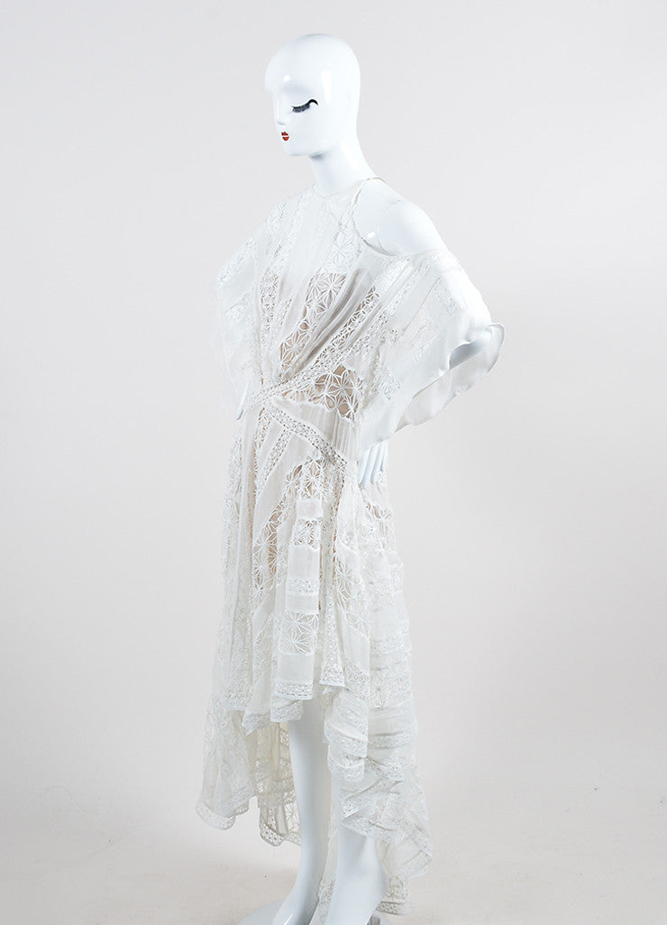 Zimmermann Tarot Celestial White Silk One Shoulder High Low Dress Sideview