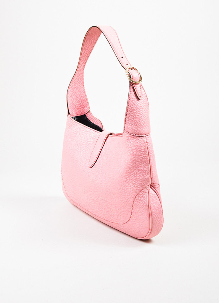 "å´?ÌÜGucci Pink Pebbled Leather Gold Toned Hardware ""Small Jackie"" Shoulder Bag Sideview"