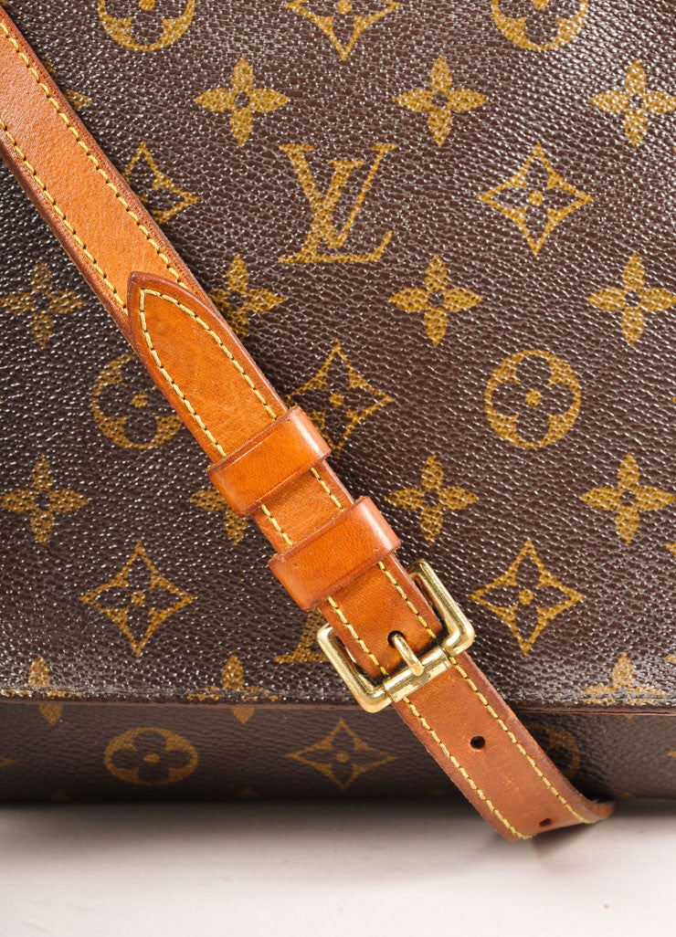 "Louis Vuitton Brown Monogram Coated Canvas ""Musette Tango"" Shoulder Bag Detail 2"