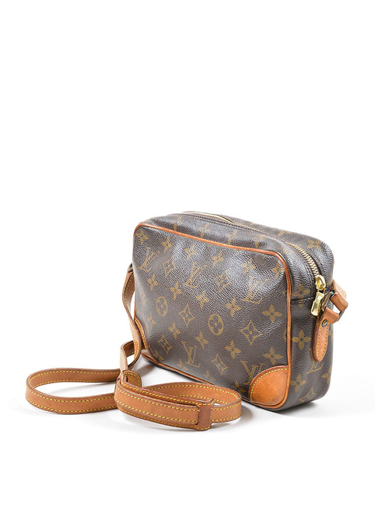 "Brown Louis Vuitton Coated Canvas Monogram ""Trocadero"" Shoulder Bag Sideview"