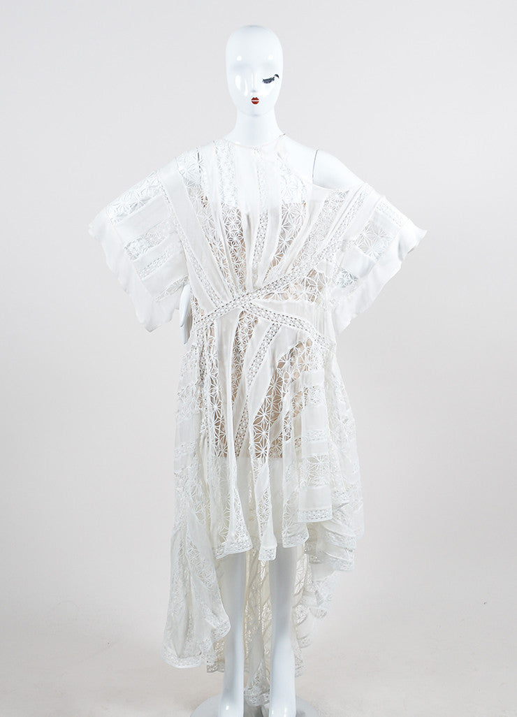 Zimmermann Tarot Celestial White Silk One Shoulder High Low Dress Frontview