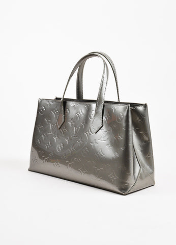"Louis Vuitton ""Wilshire PM"" Grey Vernis Leather Tote Back"