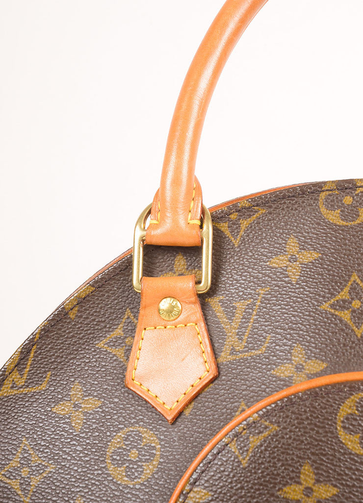 "Louis Vuitton Brown Coated Monogram Canvas Hardshell ""Ellipse PM"" Handbag Detail"