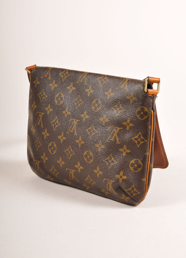 "Louis Vuitton Brown Monogram Coated Canvas ""Musette Tango"" Shoulder Bag Sideview"