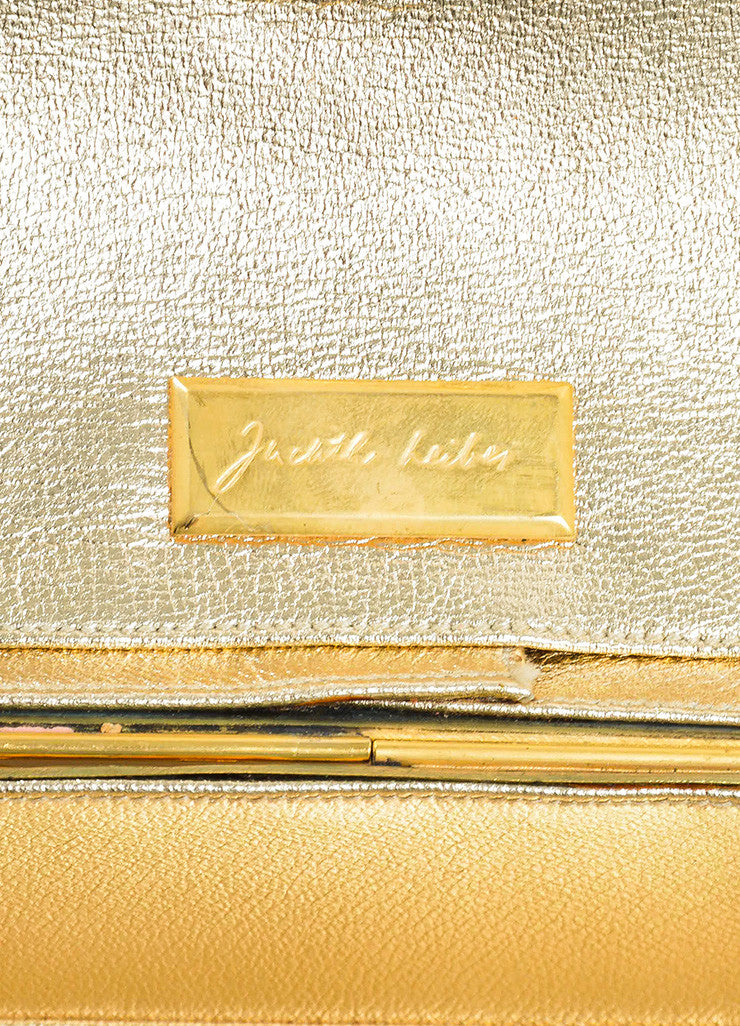 Gold Toned Judith Leiber Lion Minaudiere Clutch Bag Brand