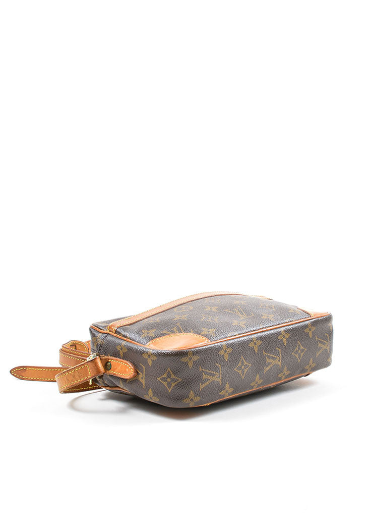 "Brown Louis Vuitton Coated Canvas Monogram ""Trocadero"" Shoulder Bag Bottom View"