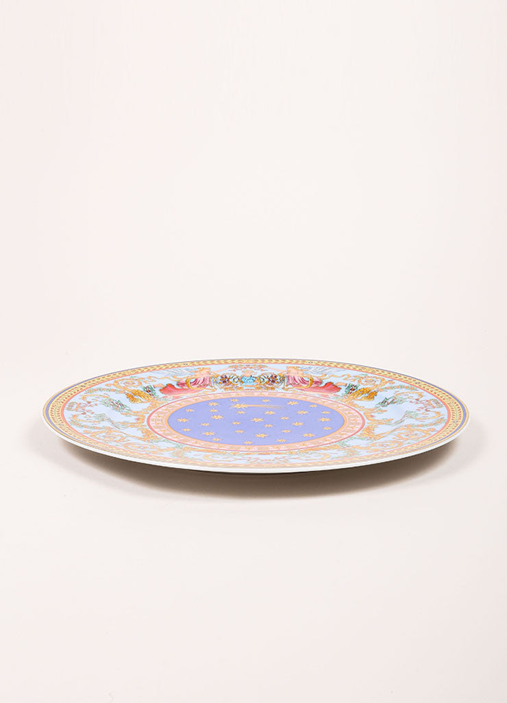 "Versace Rosenthal Multicolor ""Nativite 1997""  12 inch Service Plate Sideview"