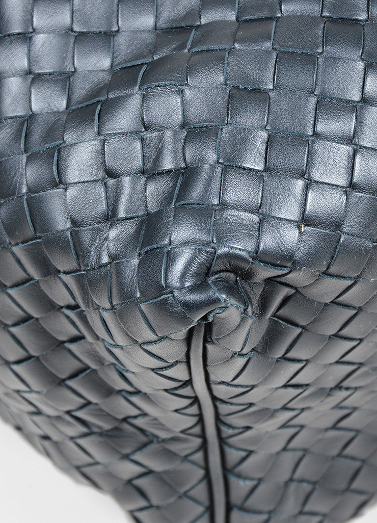 Bottega Veneta Sloane Intrecciato Black Woven Nappa Leather Hobo Bag Detail