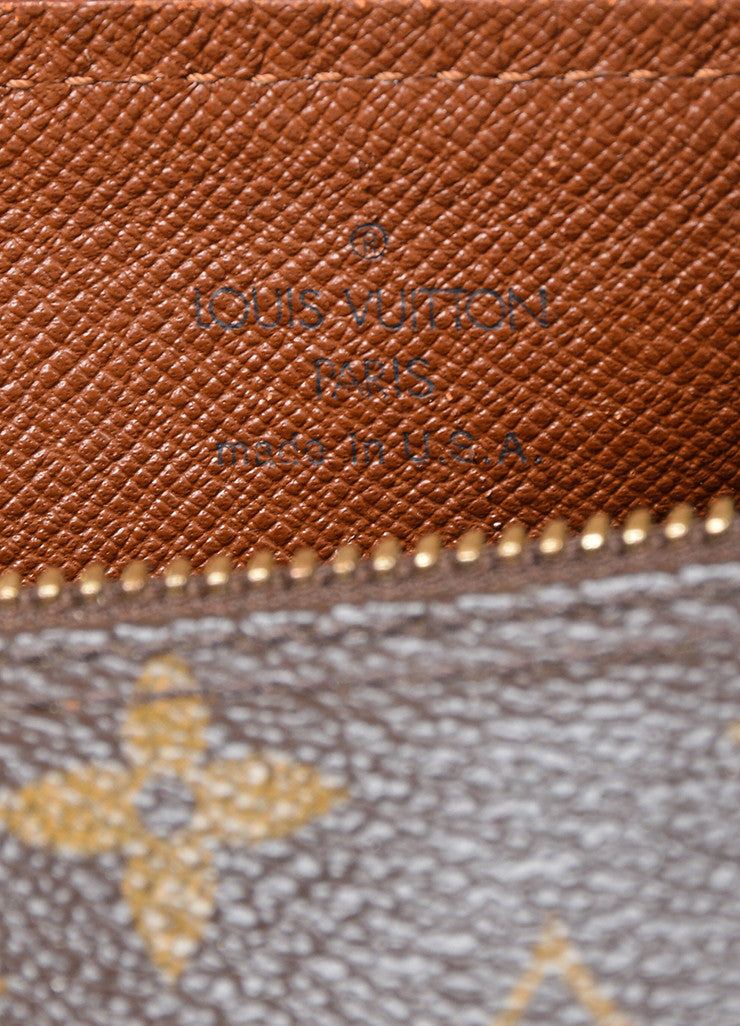 "Brown and Tan Louis Vuitton Coated Canvas and Leather Monogram ""Papillon 30"" Barrel Bag Brand"
