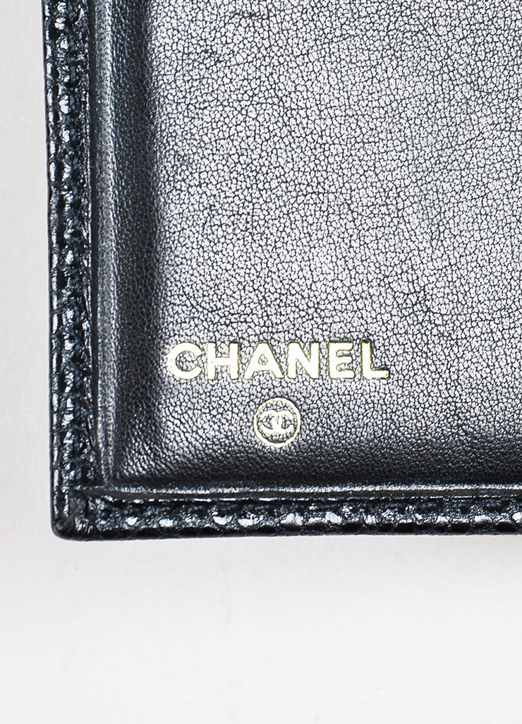 Chanel Black Caviar Leather 'CC' Card Holder Wallet Brand