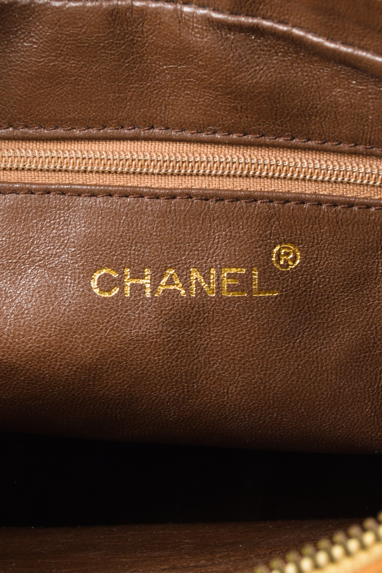 Caramel Tan Chanel Lambskin Leather Quilted 'CC' Tassel Shoulder Bag Brand