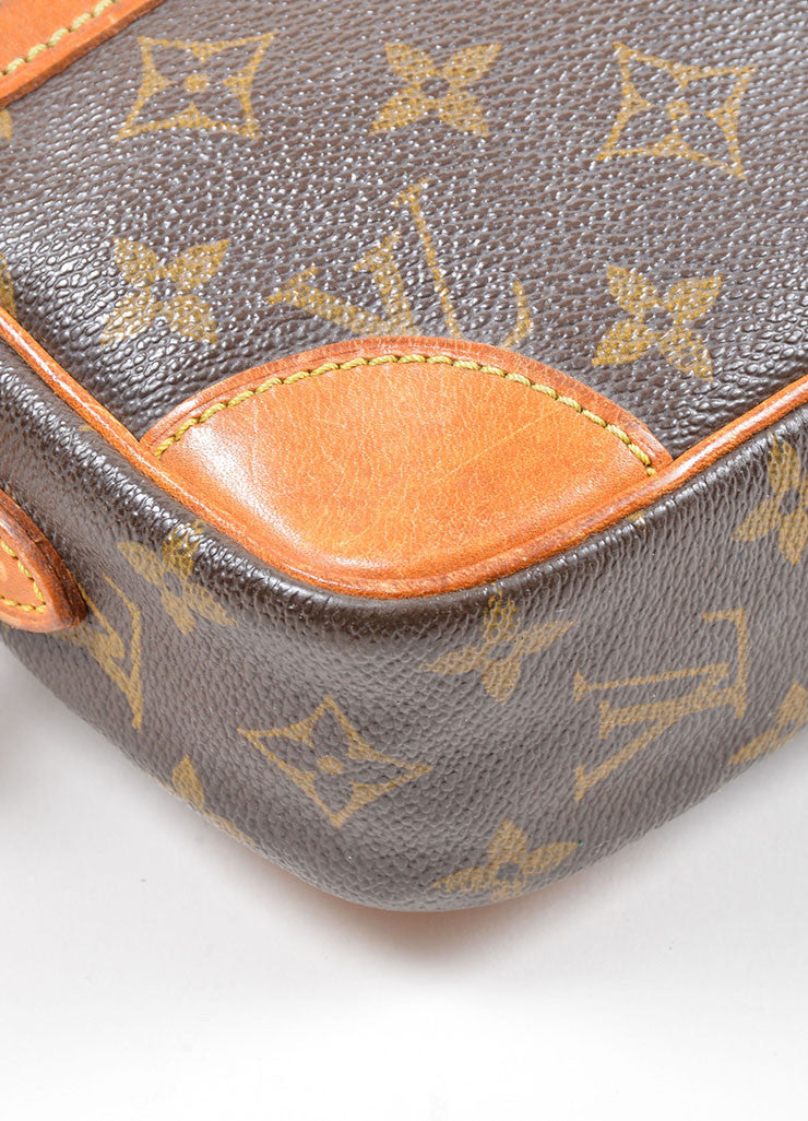 "Brown Louis Vuitton Coated Canvas Monogram ""Trocadero"" Shoulder Bag Detail"