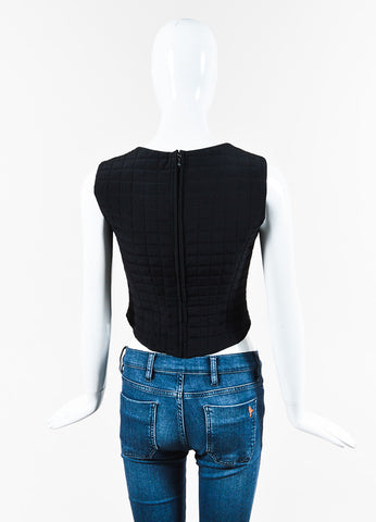 Chanel 00T Black Quilted SL Crop Top back