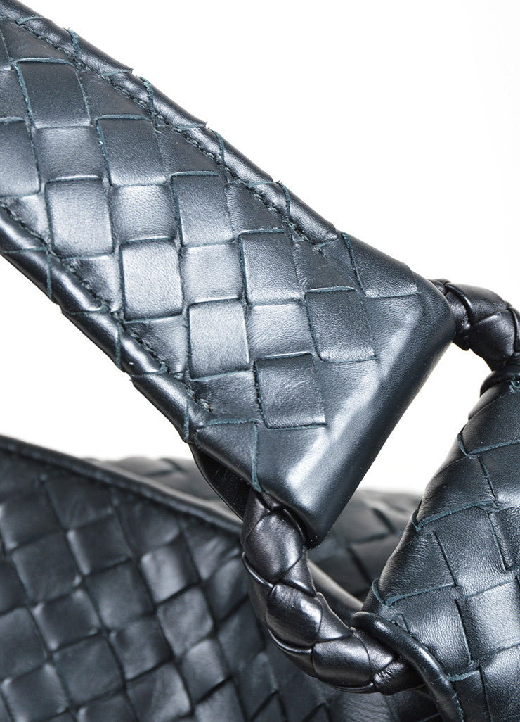 Bottega Veneta Sloane Intrecciato Black Woven Nappa Leather Hobo Bag Detail 2