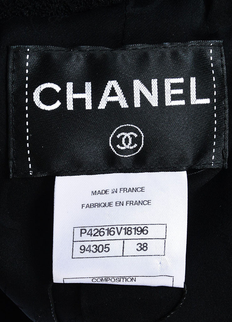 Black Chanel Notch Collar Wool Four Button Classic Short Jacket Brand