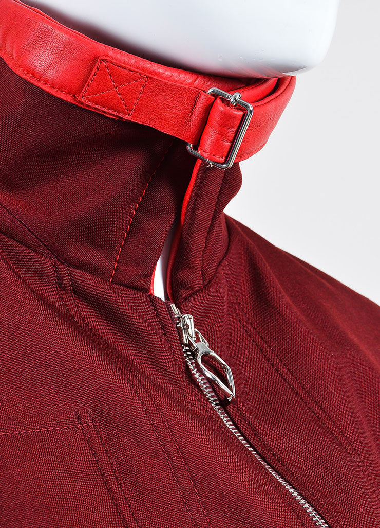 Christian Dior Maroon Red Cropped Long Sleeve Jacket Detail
