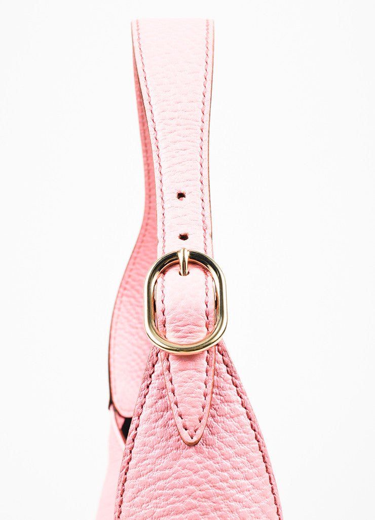 "å´?ÌÜGucci Pink Pebbled Leather Gold Toned Hardware ""Small Jackie"" Shoulder Bag Detail 2"