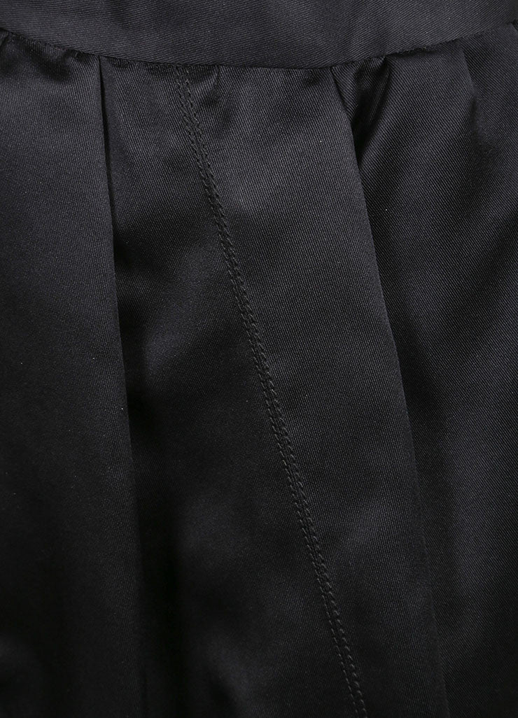Prada Black Silk Bubble Skirt Detail
