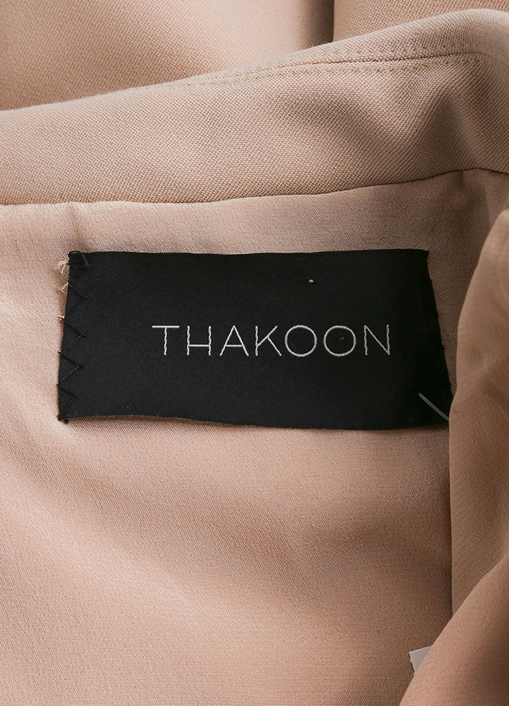 Thakoon New With Tags Tan Wool Crepe Blend Sleeveless Blazer Jacket Cape Brand