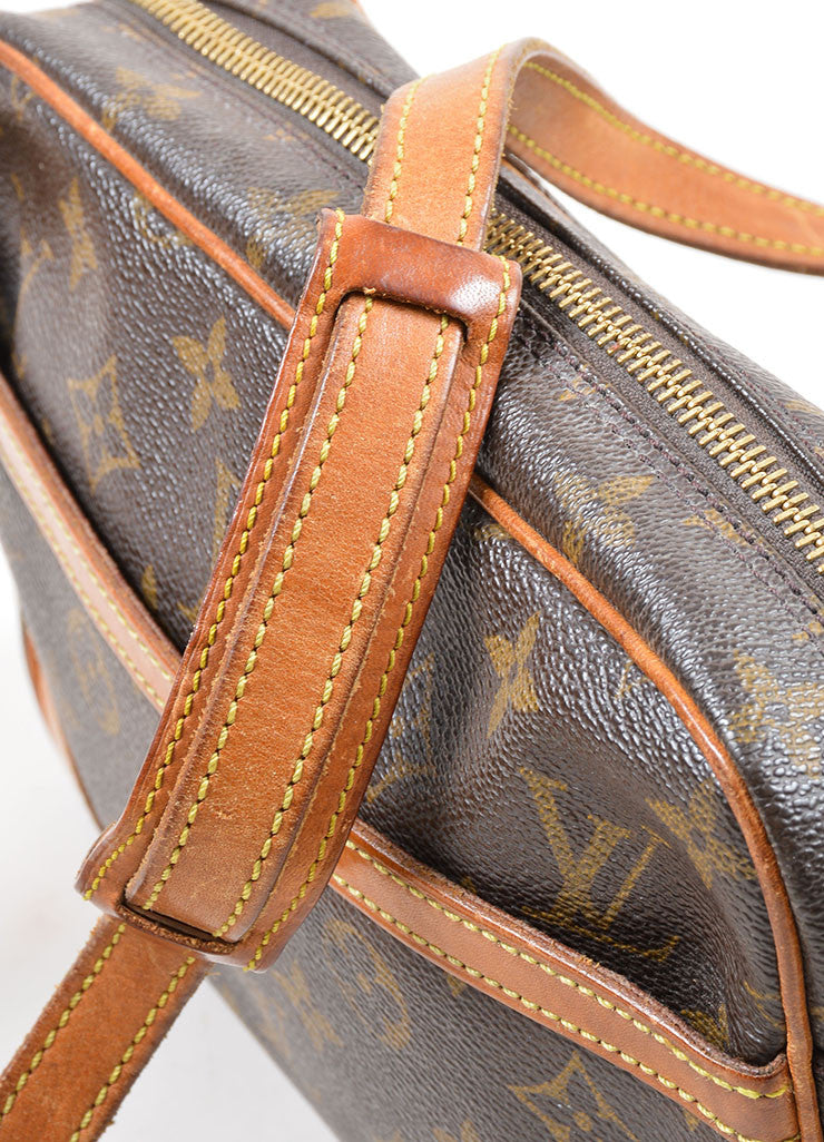 "Brown Louis Vuitton Coated Canvas Monogram ""Trocadero"" Shoulder Bag Detail 2"
