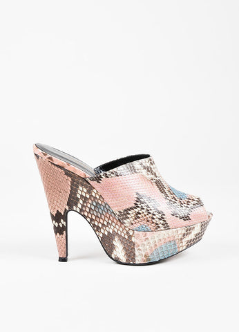 "Narciso Rodriguez ""Mia"" Multicolor Embossed Clogs Side"