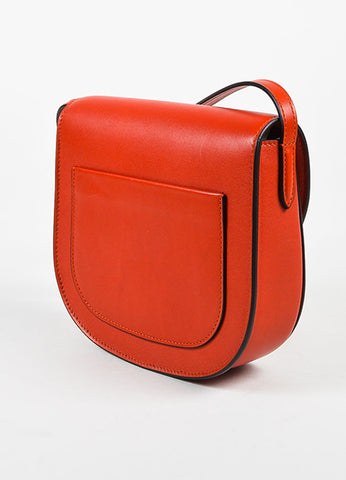 "Celine Red Calfskin Leather ""Small Trotteur"" Crossbody Bag Sideview"