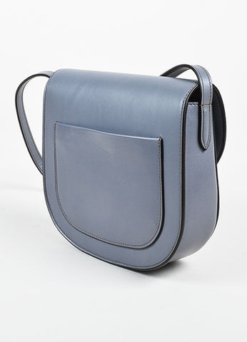 "Celine Grey Calfskin Leather ""Small Trotteur"" Crossbody Bag Sideview"