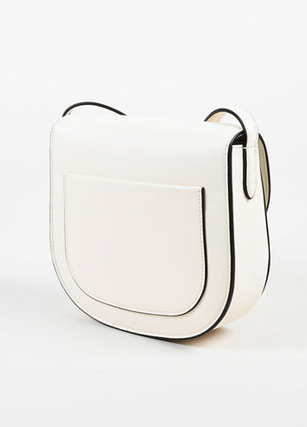 "Celine Off White Calfskin Leather ""Small Trotteur"" Crossbody Bag Sideview"