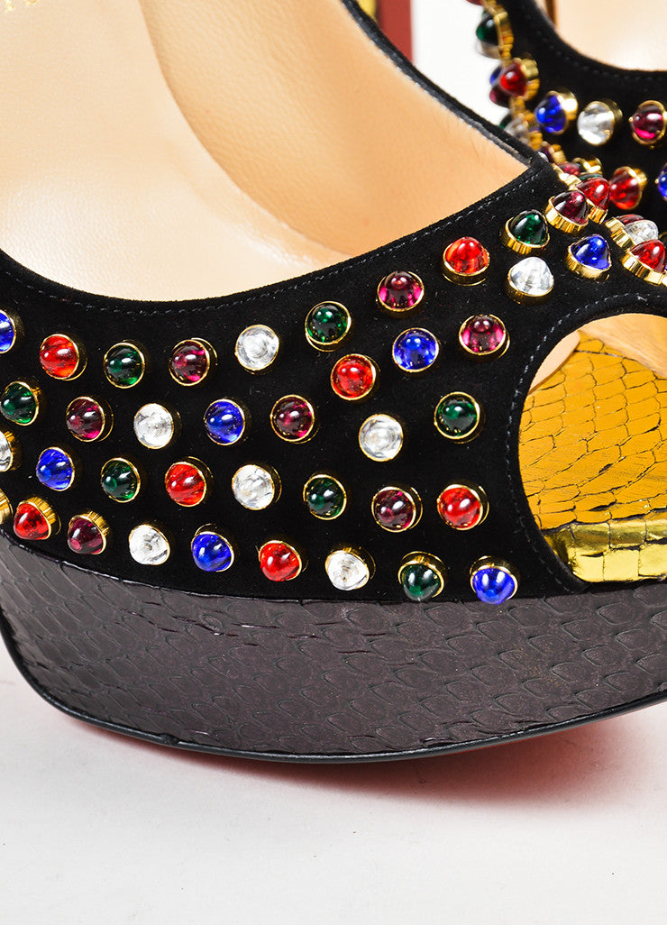 "Multicolor Christian Louboutin ""Lady Cabo 150"" Pumps Detail"