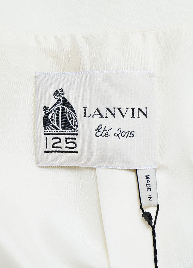 White Lanvin Woven Wool Button Tailored Vest Brand